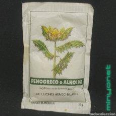 Sobres de azúcar de colección: SOBRE DE AZÚCAR SERIE PLANTAS MEDICINALES - FENOGRECO O ALHOLVA (ERROR). BRASILIA. PROD. CAFÉ, 10GR.. Lote 296581628