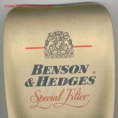 Paquetes de tabaco: ESPECIE DE RECOGE MONEDAS BENSON & HEDGES, TABACO. Lote 27401976