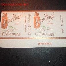 Paquetes de tabaco: PAQUETE DE TABACO DE PAPEL SUPER ROYAL,HECHO EN CUBA,AÑOS 50. Lote 12357195