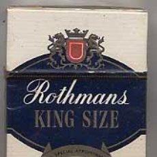 Paquetes de tabaco: PAQUETE TABACO ROTHMANS . PRECINTADO. CIGARRILLOS. Lote 23917532