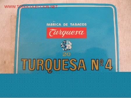 TABACOS TURQUESA (Coleccionismo - Objetos para Fumar - Paquetes de tabaco)