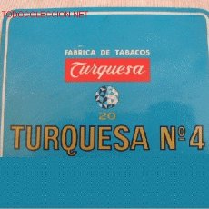Paquetes de tabaco: TABACOS TURQUESA. Lote 4338938