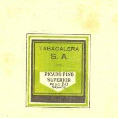 Paquetes de tabaco: PAPEL PICADO FINO SUPERIOR PESO 50 GRAMOS DE FUMAR .TABACALERA S.A.. Lote 10043801