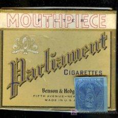 Paquetes de tabaco: PAQUETE DE TABACO VACIA ANTIGUO PARLIAMENT, BENSON & HEDGES. NEW YORK. Lote 11759926