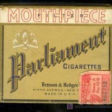 Paquetes de tabaco: PAQUETE DE TABACO VACIA ANTIGUO PARLIAMENT, BENSON & HEDGES. NEW YORK. Lote 11760233