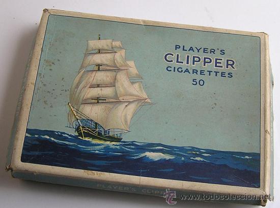 ANTIGUA CAJA CARTÓN TABACO PLAYER´S CLIPPER (Coleccionismo - Objetos para Fumar - Paquetes de tabaco)