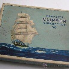Paquetes de tabaco: ANTIGUA CAJA CARTÓN TABACO PLAYER´S CLIPPER. Lote 12242915