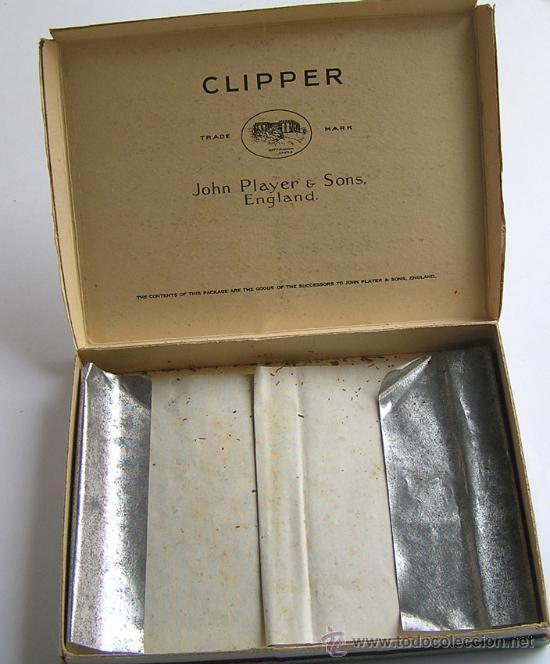 Paquetes de tabaco: ANTIGUA CAJA CARTÓN TABACO PLAYER´S CLIPPER - Foto 2 - 12242915