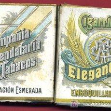 Paquetes de tabaco: PAQUETE CIGARRILLOS ELEGANTES, CARTON , VACIO, EMBOQUILLADOS, CIA ARRENDATARIA DE TABACOS.. Lote 94658031