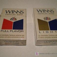 Paquetes de tabaco: DOS PAQUETES DE WINS. Lote 21288232