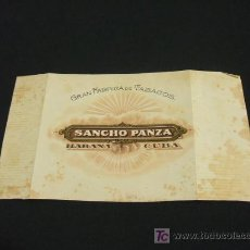Paquetes de tabaco: ETIQUETA TABACO - GRAN FABRICA DE TABACOS SANCHO PANZA - HABANA - CUBA. Lote 20807136