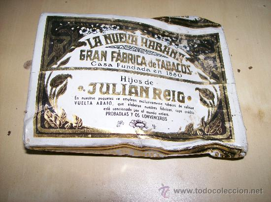 PICADURA DE TABACO / LA NUEVA HABANA GRAN FÁBRICA DE TABACOS FUNDADA EN 1880. HIJOS DE JULIÁN REIG (Coleccionismo - Objetos para Fumar - Paquetes de tabaco)