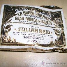 Paquetes de tabaco: PICADURA DE TABACO / LA NUEVA HABANA GRAN FÁBRICA DE TABACOS FUNDADA EN 1880. HIJOS DE JULIÁN REIG. Lote 27338572