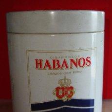 Paquetes de tabaco: (TC-201/19) PIEZA BUSCADA CAJA METALICA DE CHAPA HABANOS TABACALERA. Lote 26916231