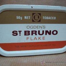 Paquetes de tabaco: ANTIGUA LATA DE TABACO - OGDEN´S ST BRUNO FLAKE - 50GRS. Lote 245546840