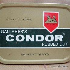 Paquetes de tabaco: ANTIGUA LATA DE TABACO - GALLAHERS CONDO RUBBED OUT - 50 GRS . Lote 22276360