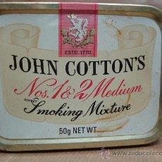 Paquetes de tabaco: ANTIGUA LATA DE TABACO - JOHN COTTON´S - SMOKING MIXTURE - 5 GRS . Lote 25782422