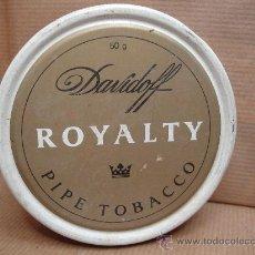 Paquetes de tabaco: ANTIGUA LATA DE TABACO PIPA- DAVIDOFF ROYALTY - 50 GRS. Lote 25782424