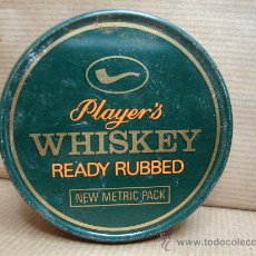 Paquetes de tabaco: ANTIGUA LATA DE TABACO PIPA- PLAYER´S WHISKEY READY RUBBED - 25 GRS . Lote 25782425