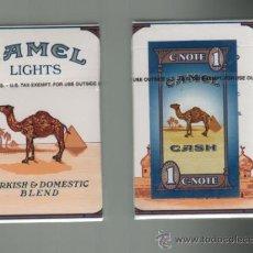 Paquetes de tabaco: CAJETILLA CAMEL CON NOTA CERRADA SIN ABRIR 20 CIGARILLOS DE USA. Lote 52672856