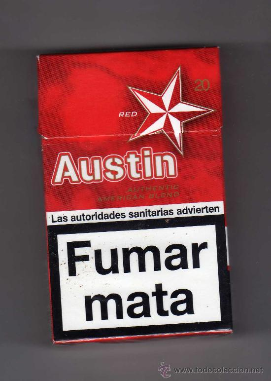 Cajetilla Vacia De Austin Red Buy Antique Packets Of Cigarettes At Todocoleccion 29353211