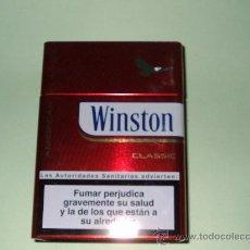 Paquetes de tabaco: CAJA METALICA WINSTON(VACIA). Lote 111533622