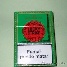 Paquetes de tabaco: CAJA METALICA LUCKY STRIKE(VACIA). Lote 188824963