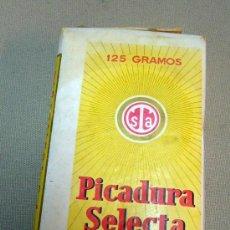 Paquetes de tabaco: PAQUETE SIN ABRIR, PICADURA SELECTA, ELABORACION ESPAÑOLA, CON SELLO, 125 GRAMOS, TABACO, TABACALERA. Lote 29669716