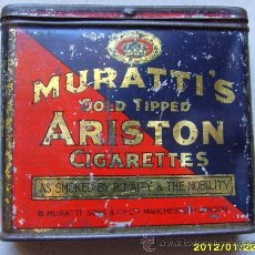 Paquetes de tabaco: MURATTI´S GOLD TIPPED ARISTON CIGARETTES. Lote 30249465
