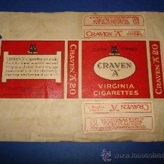 Maços de tabaco: ANTIGUO PAQUETE DE TABACO EN CARTONCILLO DURO ** CRAVEN A **. AÑO 1930-40S.. Lote 31545283