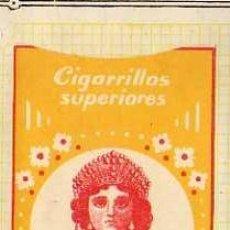 Paquetes de tabaco: FRONTALES EN PAPEL DE PAQUETE DE CIGARRILLOS. LA REGENTA. LAS PALMAS. CANARIAS. TABACO.. Lote 31543028