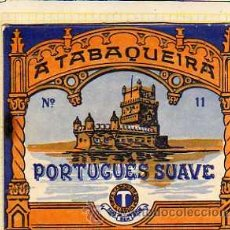 Paquetes de tabaco: FRONTAL EN CARTON A TABAQUEIRA. PORTUGUES SUAVE. PORTUGAL. CIGARRILLOS.. Lote 32250291