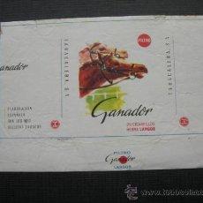 Paquetes de tabaco: CAJETILLA DE CIGARRILLOS. GANADOR. Lote 35730341