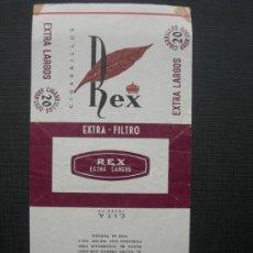 Paquetes de tabaco: CAJETILLA DE CIGARRILLOS.REX . Lote 35734185