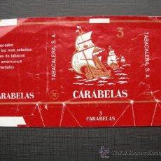 Paquetes de tabaco: CAJETILLA DE CIGARRILLOS.CARABELAS . Lote 35734812