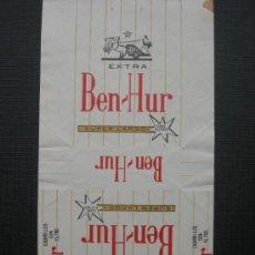 Paquetes de tabaco: CAJETILLA DE CIGARRILLOS.BEN HUR. Lote 35734961
