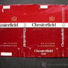 Paquetes de tabaco: CAJETILLA DE CIGARRILLOS. CHESTERFIELD. Lote 35808655