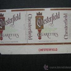 Paquetes de tabaco: CAJETILLA DE CIGARRILLOS. CHESTERFIELD. Lote 35808698