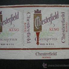 Paquetes de tabaco: CAJETILLA DE CIGARRILLOS. CHESTERFIELD. Lote 35808770