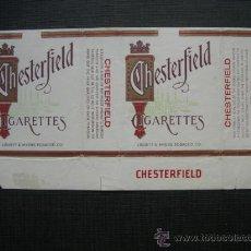 Paquetes de tabaco: CAJETILLA DE CIGARRILLOS. CHESTERFIELD. Lote 35808780