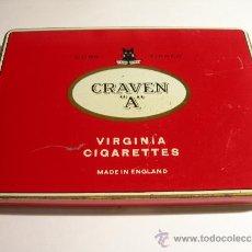 Paquetes de tabaco: CAJA ANTIGUA CRAVEN A VIRGINIA CIGARETTES. Lote 36135423
