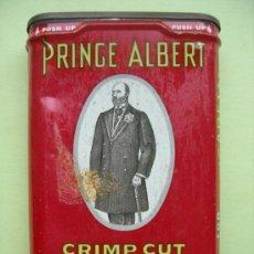 Paquetes de tabaco: PRINCE ALBERT. CRIMP CUT. PIPE AND CIGARETTE TOBACCO. Lote 36283759