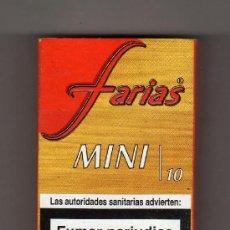 Paquetes de tabaco: CAJETILLA VACÍA DE FARIAS MINI 10. Lote 221545595