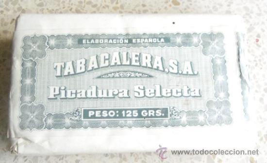 Paquetes de tabaco: PAQUETE DE TABACO - PICADURA SELECTA DE TABACALERA SA 125 GRAMOS - Foto 6 - 36837308