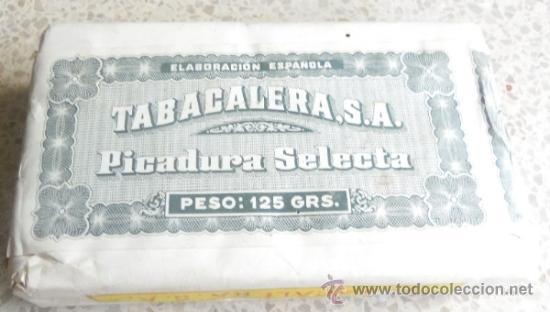Paquetes de tabaco: PAQUETE DE TABACO - PICADURA SELECTA DE TABACALERA SA 125 GRAMOS - Foto 4 - 36837308
