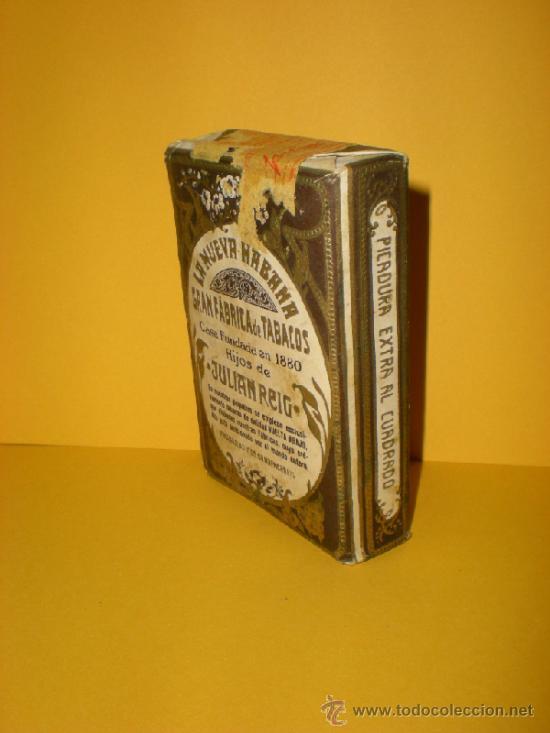 Paquetes de tabaco: Antiguo Paquete de Picadura Extra al Cuadrado LA NUEVA HABANA Gran Fabrica de Tabacos de Julian Reig - Foto 2 - 37209387