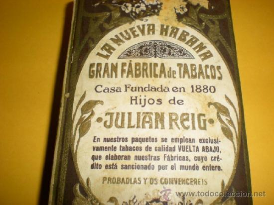 Paquetes de tabaco: Antiguo Paquete de Picadura Extra al Cuadrado LA NUEVA HABANA Gran Fabrica de Tabacos de Julian Reig - Foto 3 - 37209387