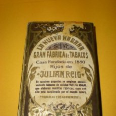 Paquetes de tabaco: ANTIGUO PAQUETE DE PICADURA EXTRA AL CUADRADO LA NUEVA HABANA GRAN FABRICA DE TABACOS DE JULIAN REIG. Lote 37209387
