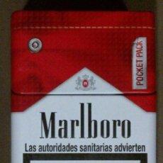 Paquetes de tabaco: CAJA TABACO MARLBORO. CAJETILLA METALIZADA DE DIMENSIONES MUY RARAS (8,5 X 6 CM.) NUEVA!!. Lote 258083475