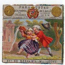 Paquetes de tabaco: MARQUILLA.VISTA.BOFETON DE TABACO SIGLO XIX 1865 CUBA. Lote 39046471